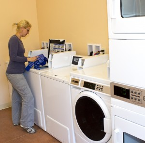 A brand new coin-op laundry is part of the ACT Campground's amenities.
