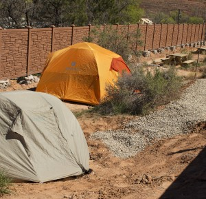 Tent sites are tucked among native plants around the north and west side of the park.