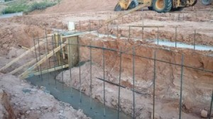 footer retaining wall