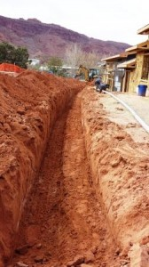 gas line trench