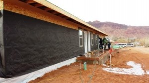 stucco wrap start