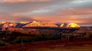 la Sal sunset