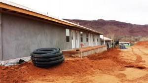 rain water trench and pipe