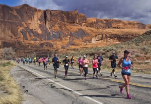 One of several marathon races held in Moab each season.